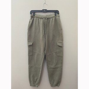 H&M Green Cargo Jogger Sweatpants